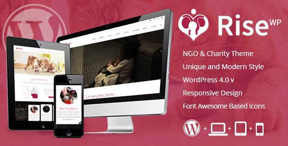 Rise – NGO and Charity Responsive WordPress Theme