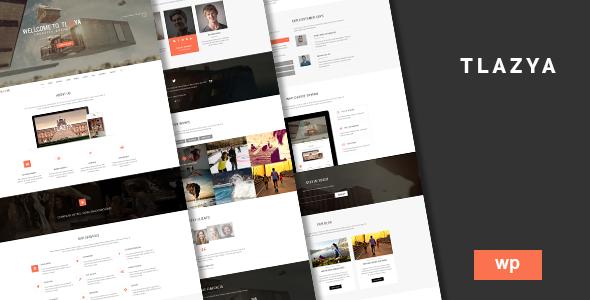 Tlazya – Creative OnePage Parallax WordPress Theme